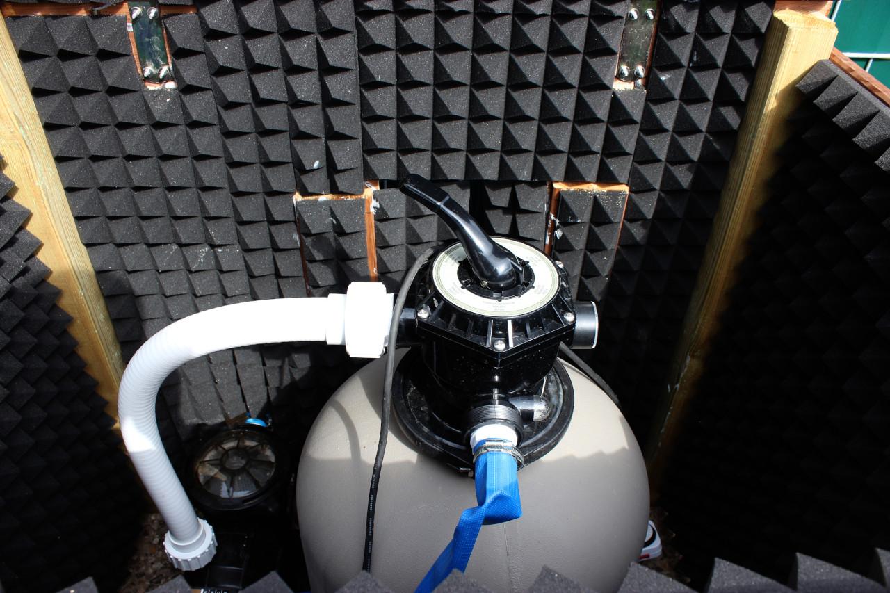 Schallisolierte Kiste für die Filteranlage